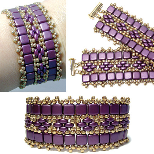 Lavish Purple Royalty Beaded Bracelet