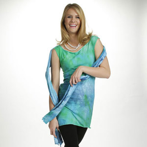 Aqua Chic Tunic and Scarf