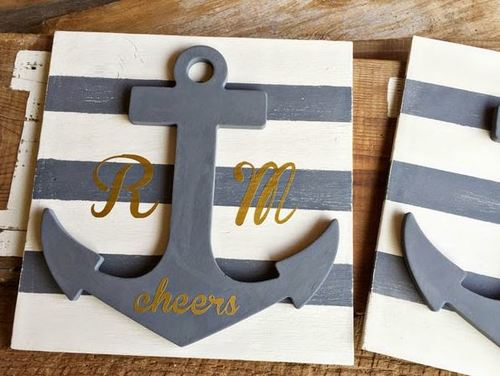 Simple Yet Stunning Monogram Anchor Wall Art
