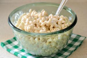 Sour Cream Cheddar Macaroni Salad | AllFreeCopycatRecipes com