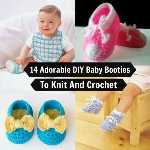 14 Adorable DIY Baby Booties To Knit or Crochet