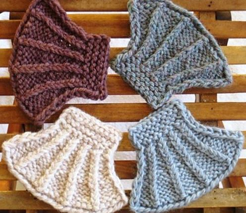 Seashell Knit Coasters