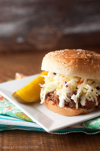 Alabama Style Barbecue Pulled Pork Sandwiches