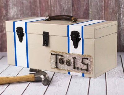 Fathers Day Painted Tool Box