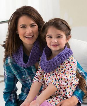 """Mommy and Me"" Matching Crochet Scarves"