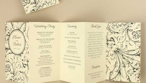 Accordion Fold Wedding Program Template