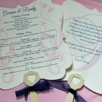 Fancy Wedding Program Fans