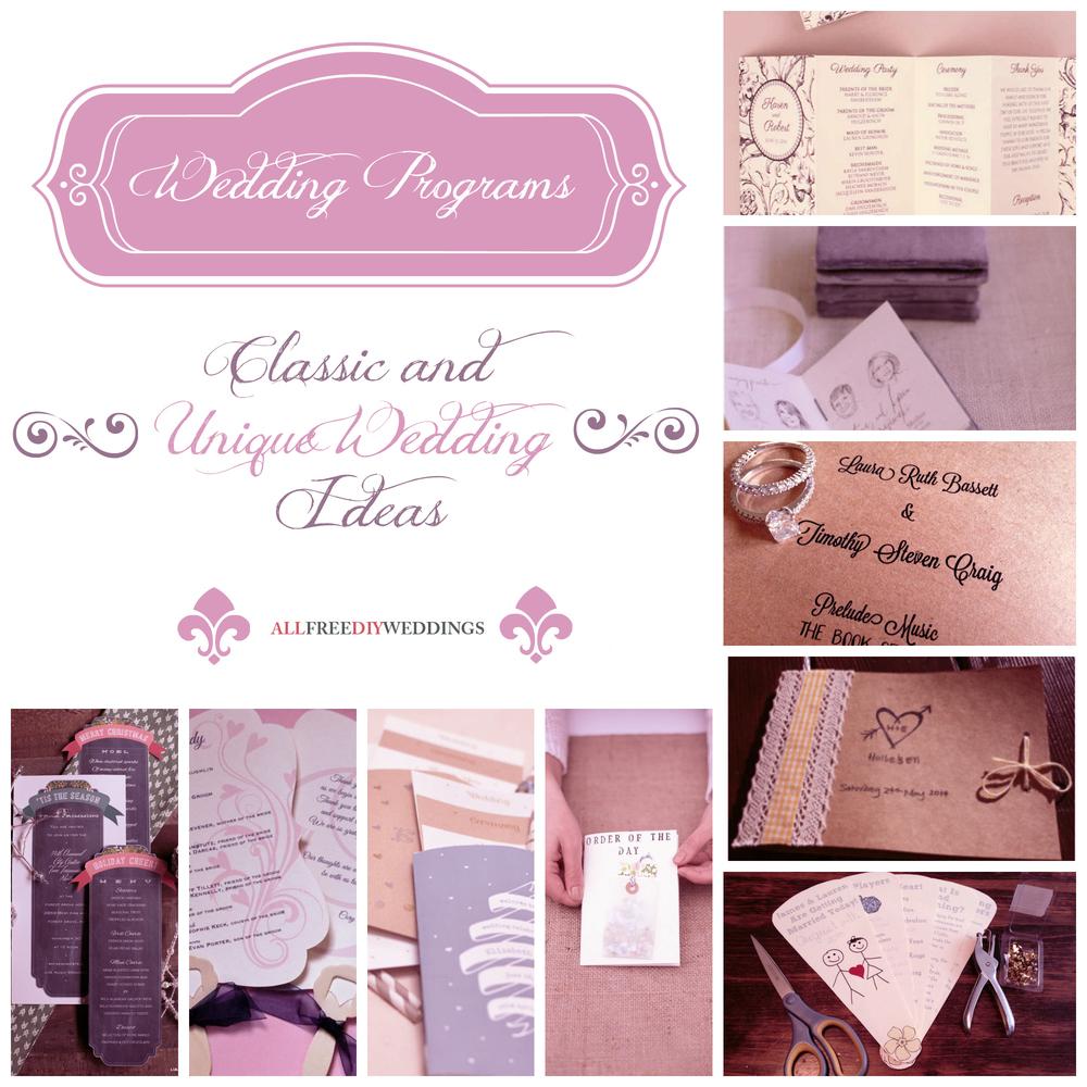 Wedding Programs: 9 Classic And Unique Wedding Ideas