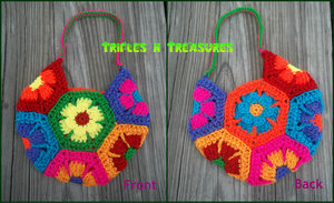Flower Child Crochet Bag