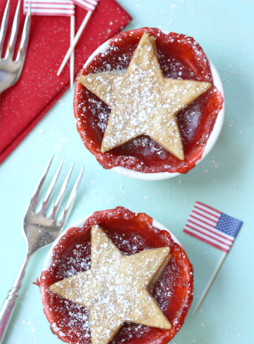 Fourth of July Strawberry Pies