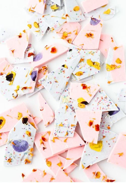 Unexpected Petaled Chocolate Bark Recipe