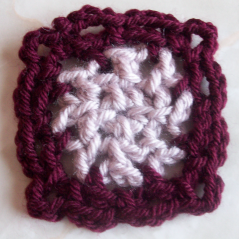 Chain Stitch Afghan Square