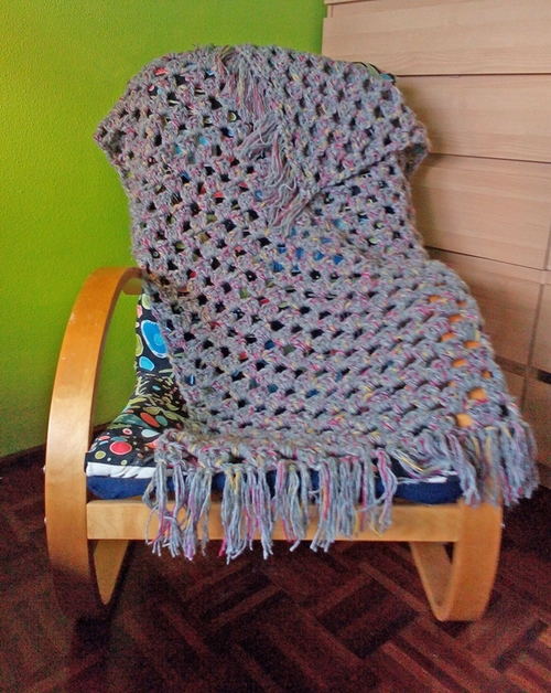 Quick Granny Stripes Lapghan Crochet Pattern