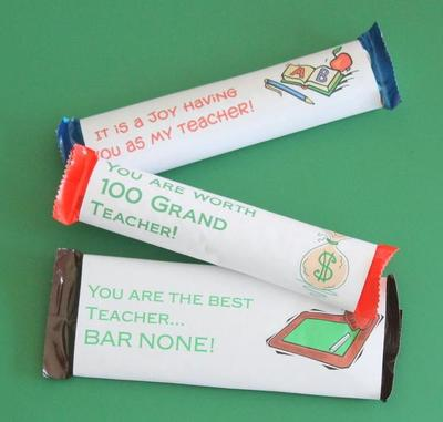 Adorable Candy Bar Wrappers Template