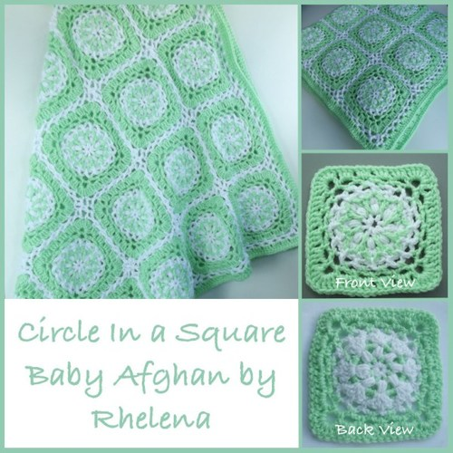 Circle Square Baby Afghan