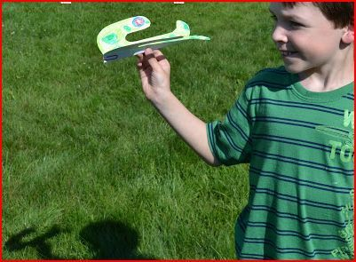 Paper Plane Printable Kids Crafts
