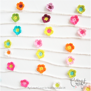 Mini Flower Garland Crochet Pattern