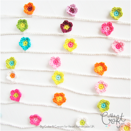 Headline Mini Flower Garland Crochet Pattern