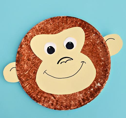 Monkey Face Paper Plate Craft Allfreekidscrafts Com