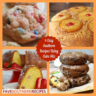 9 Easy Southern Recipes Using Cake Mix