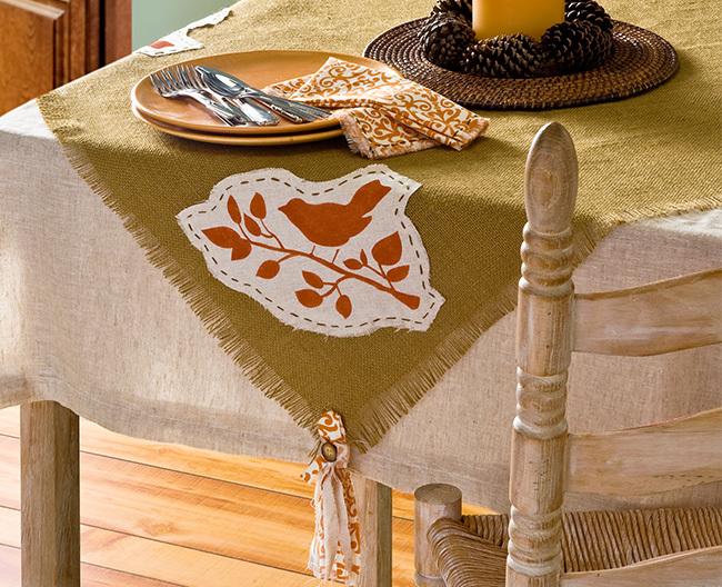 Rustic Burlap Tablecloth FaveCrafts