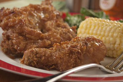 Oven-Fried Chicken with Honey Butter Sauce
