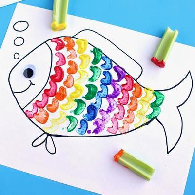 Rainbow Fish Art Craft For Kids Allfreekidscrafts Com