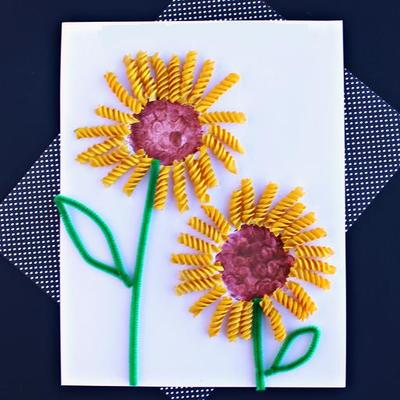 Noodle Art Spring Craft Allfreekidscrafts Com