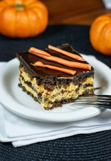 Halloween No-Bake Eclair Dessert