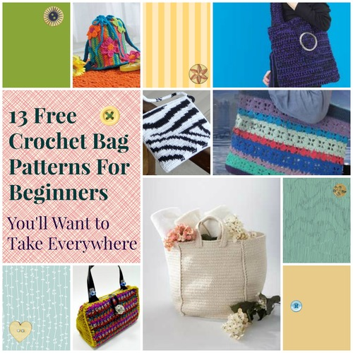 Beginners Crochet Bag Patterns : 13 Free Crochet Bag Patterns For Beginners Youll Want to ...