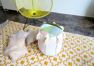 Recycled Pouf Chair