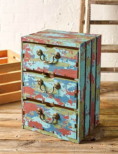 Distressed Crate Drawers