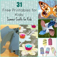 55 Free Printable Summer Crafts for Kids