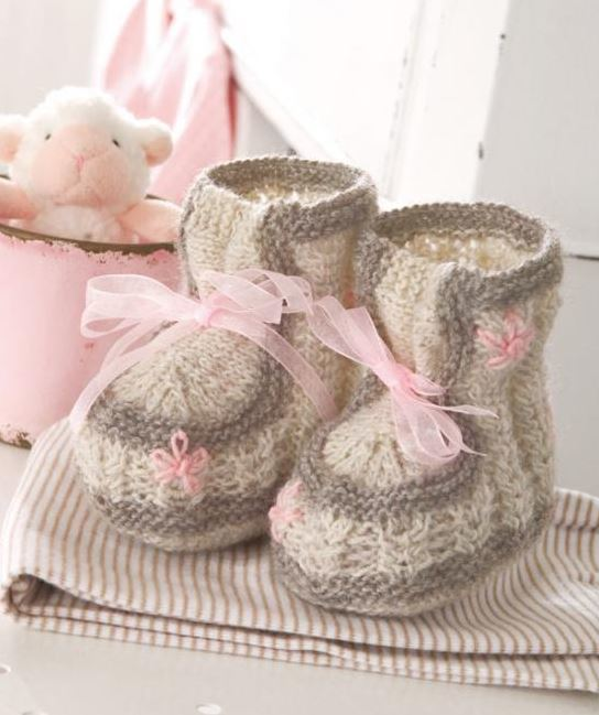 Little Lady Knit Booties