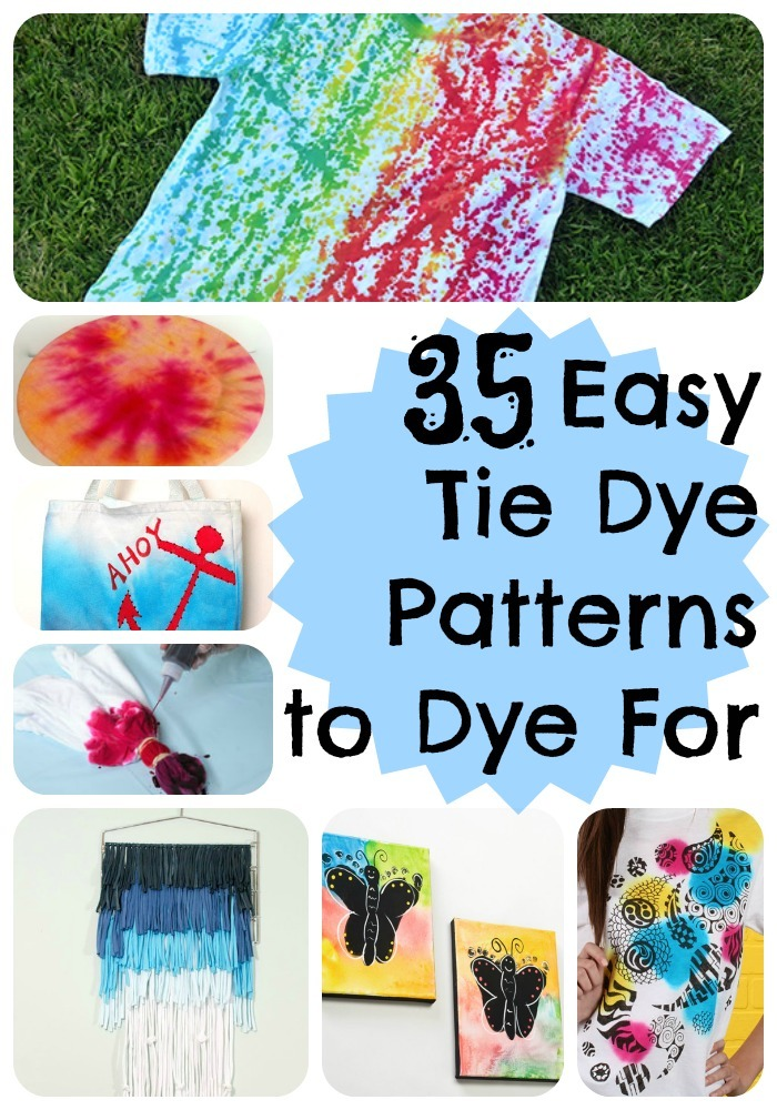 35 easy tie dye patterns to dye for. Black Bedroom Furniture Sets. Home Design Ideas