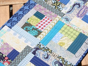 Quilt As You Go Log Cabin Quilt