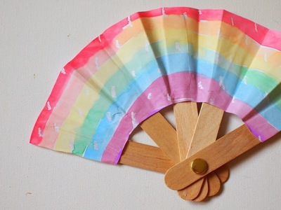 Cool Popsicle Sticks Hand Fan