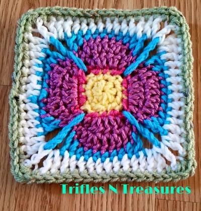 Stashbuster Crochet Granny Square