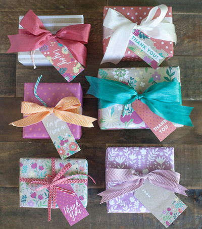 Printable Floral Gift Wrap and Tags