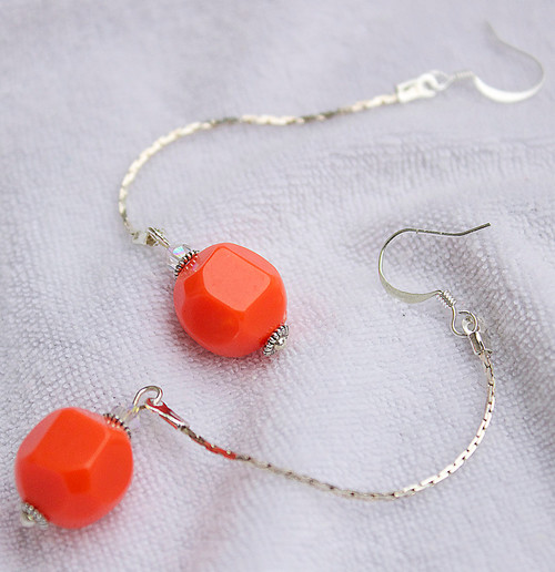 Quick Coral Drop Earrings