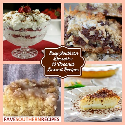 13 Coconut Dessert Recipes