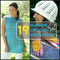 19 Summer Crochet Ideas: Crochet Hats, Tops, and Crochet Jewelry