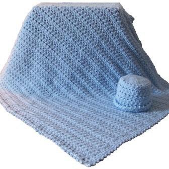 Seed Stitch Baby Blanket