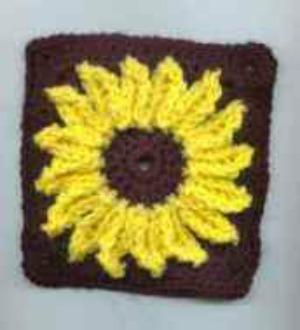 Sunflower Square Afghan Pattern AllFreeCrochet.com