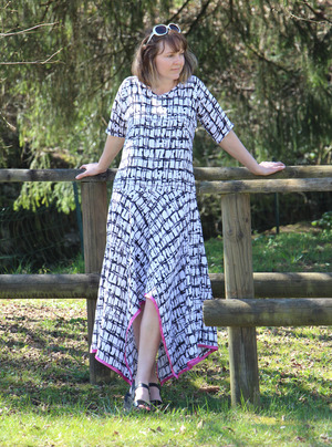 Handkerchief Hem Maxi Dress Pattern