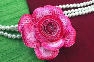 Canvas Rose Brooch Tutorial