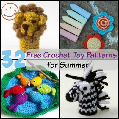 32 Free Crochet Toy Patterns For Summer Allfreecrochetcom