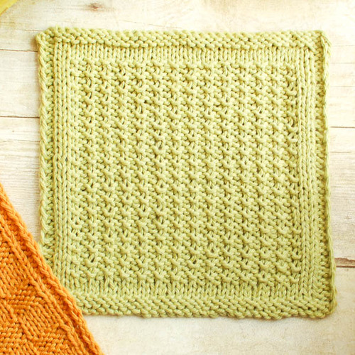 How To Knit Dishcloths Free Patterns : Textured Knit Dishcloth AllFreeKnitting.com