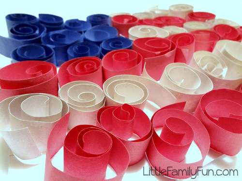 Swirly American Flag Craft