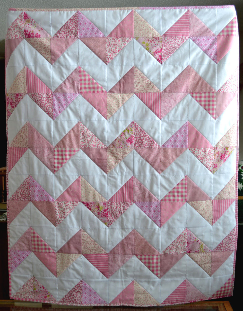 Softie Chevron Minkee Baby Quilt Favequilts Com